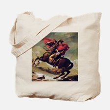 Napoleon On Horse Painting Tote Bag