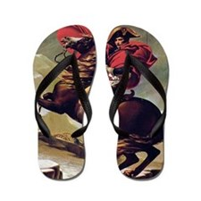 Napoleon On Horse Painting Flip Flops