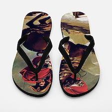 Napoleon On Horse Painting Flip Flops