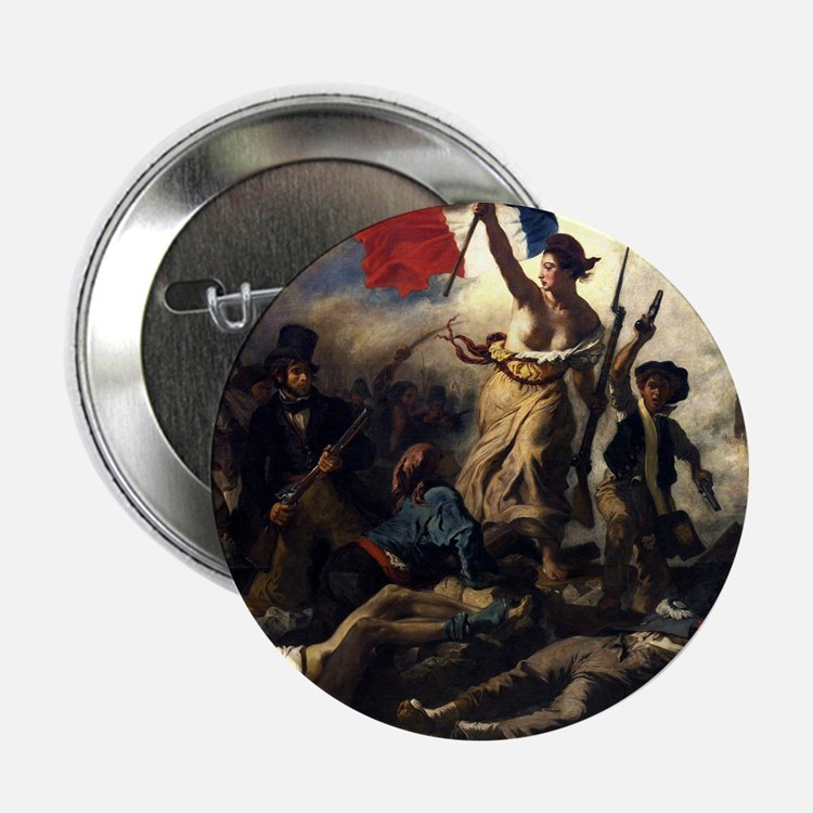 Eugène Delacroix French Revolution Painting 2.25""