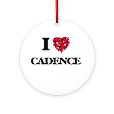 I Love Cadence Ornament (Round)
