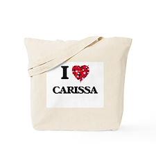 I Love Carissa Tote Bag