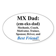 """""""MX Dad"""" Oval Decal"""