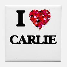 I Love Carlie Tile Coaster