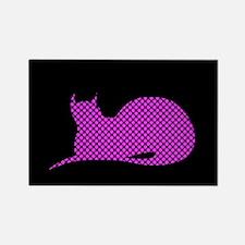 Spotty Dotty Cat on Black Magnets
