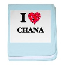 I Love Chana baby blanket