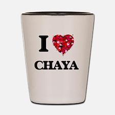 I Love Chaya Shot Glass
