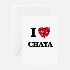 I Love Chaya Greeting Cards