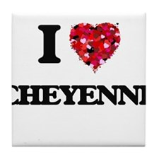 I Love Cheyenne Tile Coaster