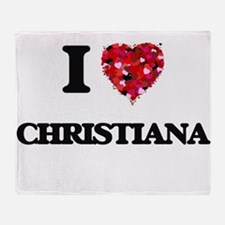 I Love Christiana Throw Blanket