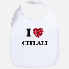 I Love Citlali Bib