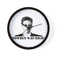 #SnowdenWasRight Wall Clock