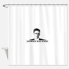 #SnowdenWasRight Shower Curtain