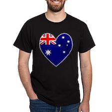 Heart of Australian Flag T-Shirt