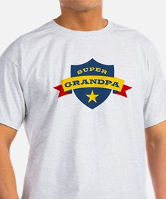 Super Grandpa Shield T-Shirt