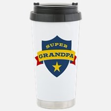 Super Grandpa Shield Travel Mug