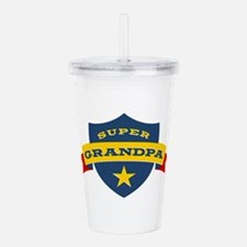 Super Grandpa Shield Acrylic Double-wall Tumbler