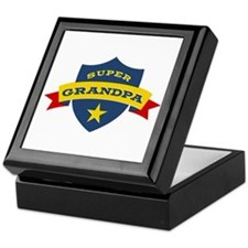 Super Grandpa Shield Keepsake Box