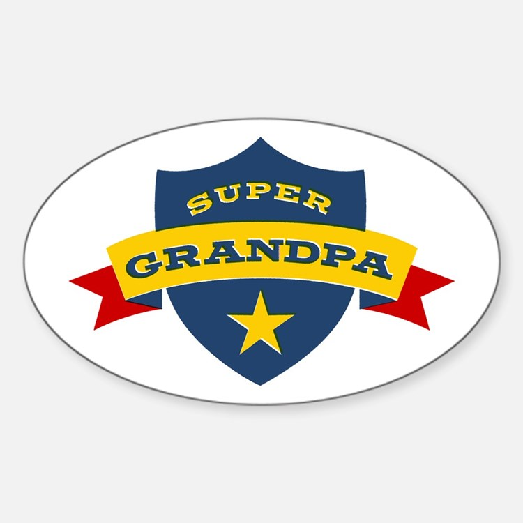 Super Grandpa Shield Decal