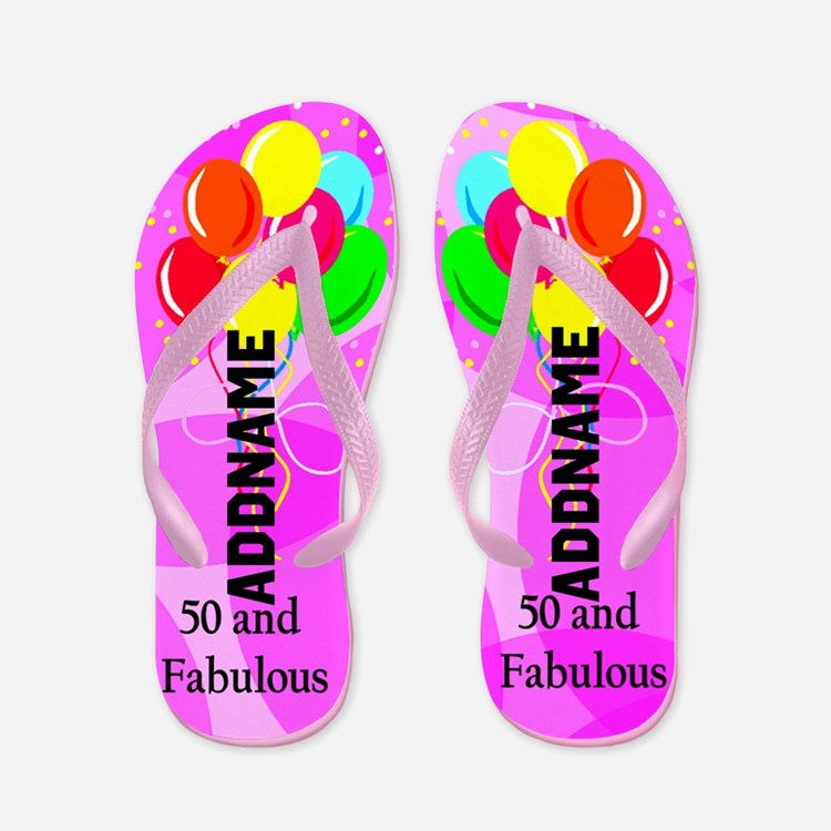 Fabulous 50th Flip Flops