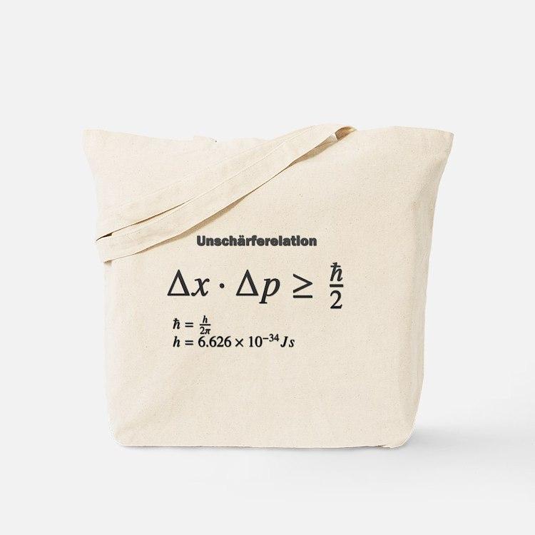 Uncertainty principle: Heisenberg: science Tote Ba