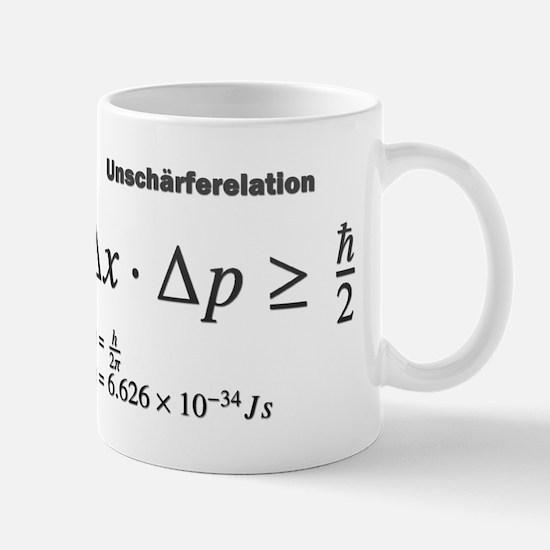 Uncertainty principle: Heisenberg: science Mugs