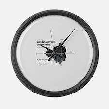 Mandelbrot set: fractal: science Large Wall Clock