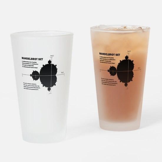 Mandelbrot set: fractal: science Drinking Glass