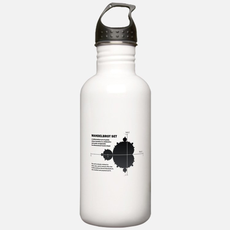 Mandelbrot set: fractal: science Water Bottle