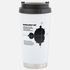 Mandelbrot set: fractal: science Travel Mug