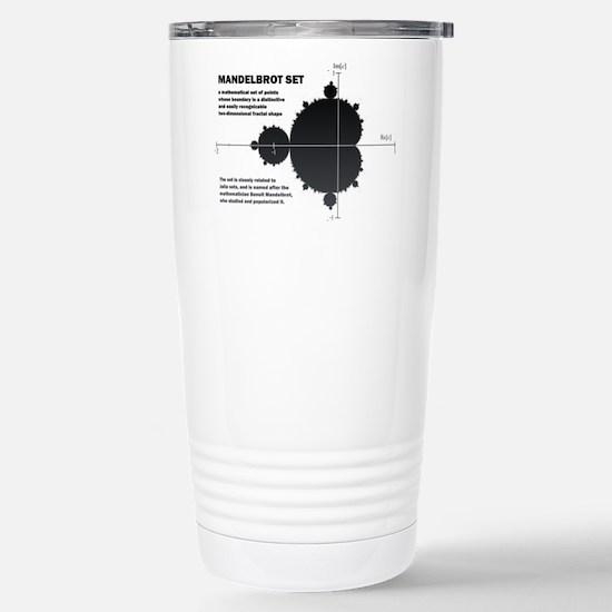 Mandelbrot set: fractal: science Travel Mug