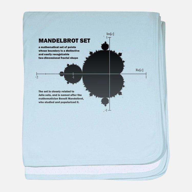 Mandelbrot set: fractal: science baby blanket