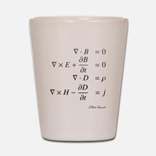 Maxwell's equations: science Shot Glass