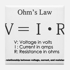 Ohm's law: science Tile Coaster