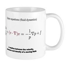 Euler equations (fluid dynamics): science Mugs