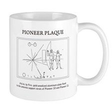 Pioneer plaque: space: science Mugs
