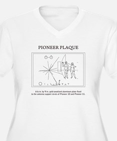 Pioneer plaque: space: science Plus Size T-Shirt