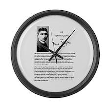 The Metamorphosis: Franz Kafka Large Wall Clock