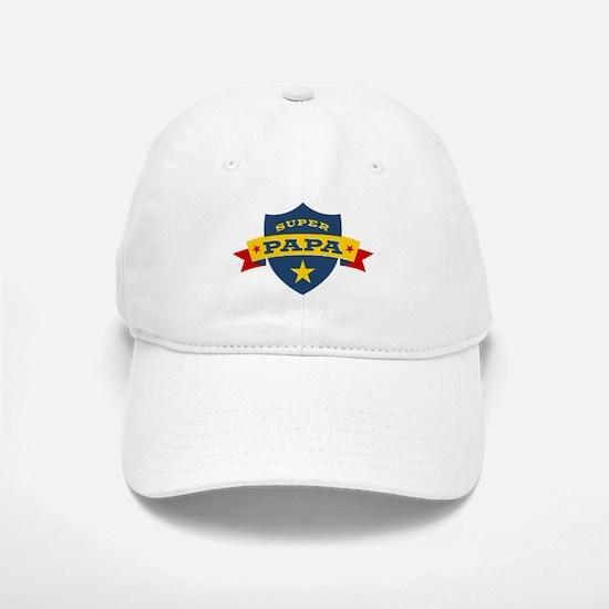 Super Papa Shield Baseball Baseball Cap