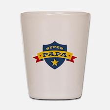Super Papa Shield Shot Glass