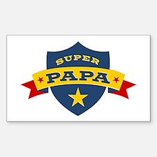 Super Papa Shield Decal