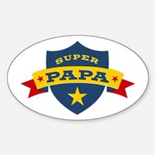 Super Papa Shield Decal