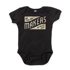 Makers of what's next white Baby Bodysuit