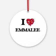 I Love Emmalee Ornament (Round)