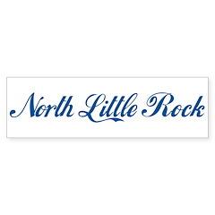 North Little Rock (cursive) Bumper Bumper Sticker