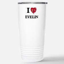 I Love Evelin Stainless Steel Travel Mug