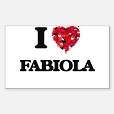 I Love Fabiola Decal