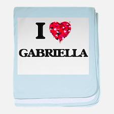 I Love Gabriella baby blanket
