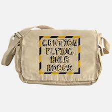 Caution Flying Hula Hoops Messenger Bag