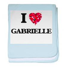 I Love Gabrielle baby blanket
